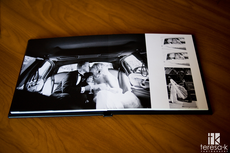 modern and unique upscale wedding albums