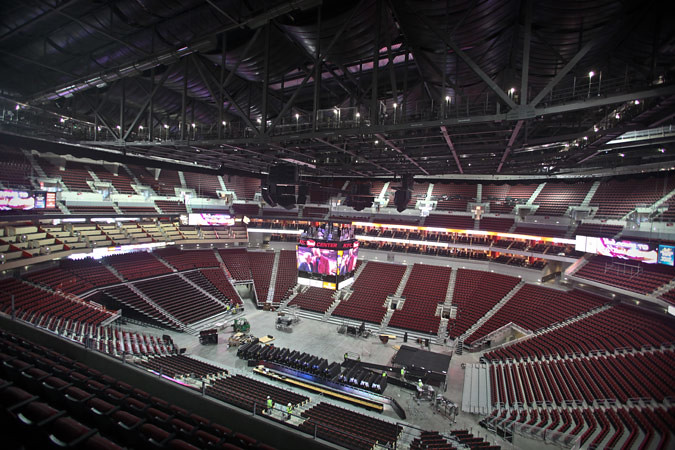 Inside the KFC Yum! Center (Courtesy Louisville Arena Authority)