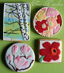 Marimekko Cookie Swap Cookies (Week 7) (Three Honeybees) Tags: flowers tree cookies finland sugar magnolia birch finnish marimekko fondant unikko threehoneybees