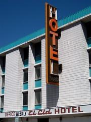 El Cid Hotel, Las Vegas, NV (Robby Virus) Tags: sign wall hotel office lasvegas nevada weekly elcid