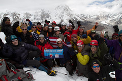 Soldiers to the Summit team at top of Lobuche