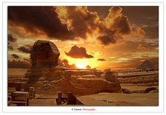 The Egyption Dream (Damon | Photography) Tags: africa trip travel sunset cloud sun set clouds digital nikon pyramid egypt cairo pyramids mm traveling polarizer damon giza circular matte 52mm clp d40 nikkor1855mm flickrduel digitalmatte nikond40 hoyra