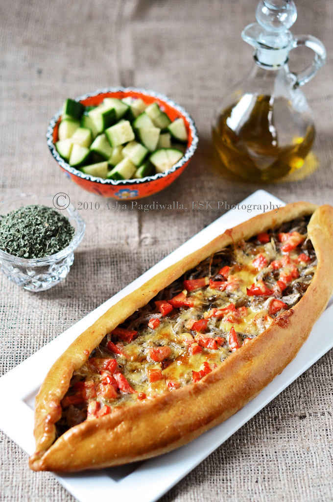 Na'Na Caramelised Onion & Olive Pide