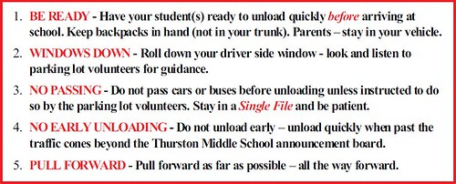 rules of the road at Thurston MS (via Laguna Beach Unified School District)