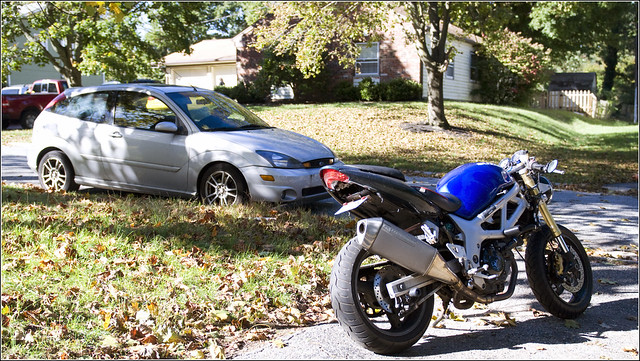Brad's bike and car