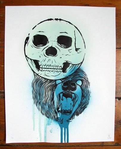 Skullbear Screenprint Spray