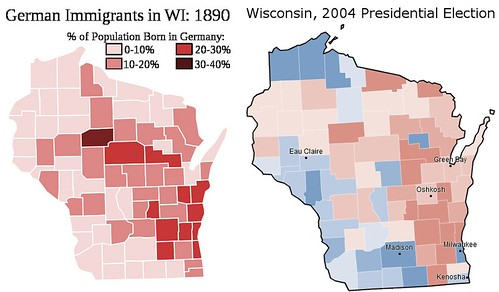 Wisconsin Immigration and Electoral Map