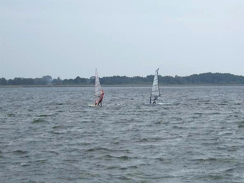 wind surfing on Lake Miedwie in Poland