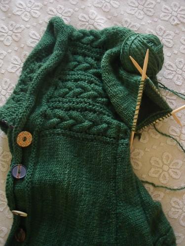 WIP - Owl Green Leitmotif Cardigan