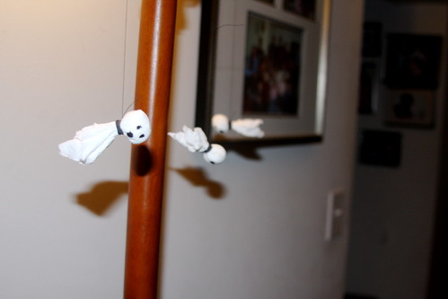 toilet paper ghosts