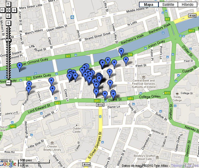 Mapa Temple Bar