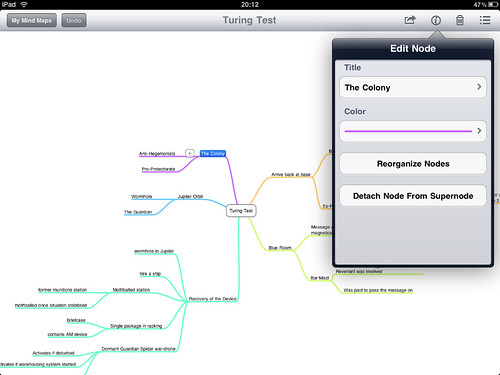 iPad Screenshot - Mindnode