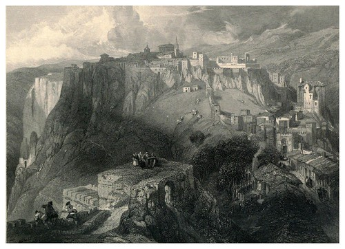 019-Fortaleza de Ronda-Tourist in Spain-Granada-1835-David Roberts