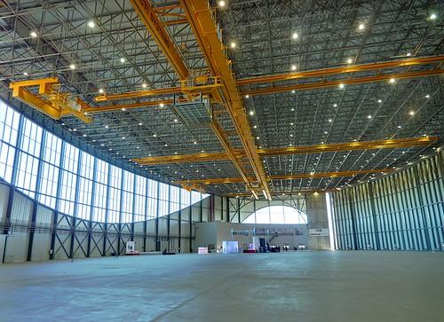 Interior del hangar