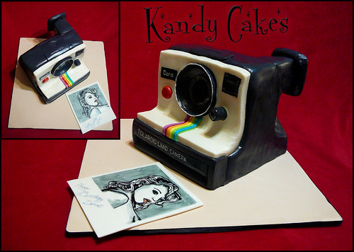 Poloroid Camera Cake by Kandy Cakes