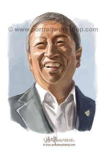 digital portrait illustration of Ng Ser Miang watermark