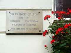 Photo of Francis Galton stone plaque