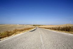 On the road to Cadiz (Adam Swaine) Tags: road blue sky beautiful canon landscape countryside spain wideangle andalucia spanish 2010 naturelovers thisphotorocks adamswaine