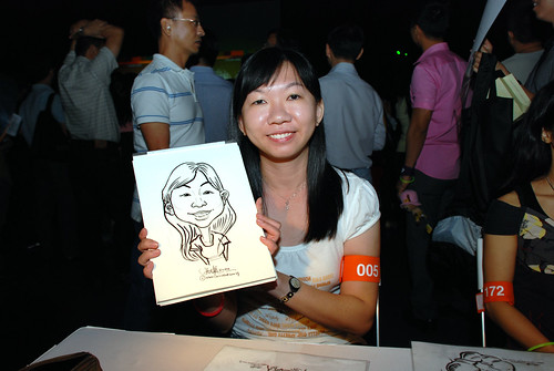 caricature live sketching for SDN First Anniversary Bash - 26