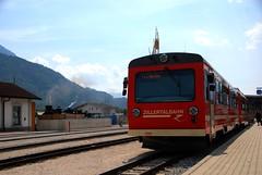 Zillertalbahn train at Jenbach (KOKONIS) Tags: travel alps train austria sterreich nikon europa europe diesel or railway zug transportation alpen bahn tyrol zillertal narrowgauge dmu jenbach railbus d80 zillertalbahn mrgniqq