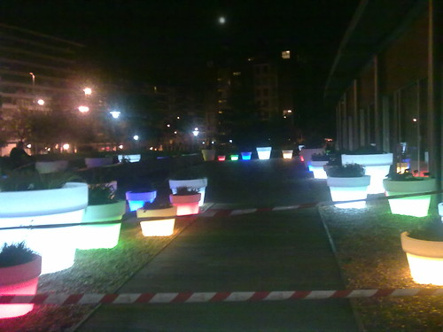 The terrace of the Clara Campoamor Civic Center at Night VIII