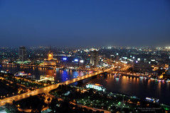 Cairo at night (CLICK GROUP معين الشريف Moeen) Tags: egypt nile nightview مصر cairotower معين النيل الهويدي برجالقاهره ماسبيرو