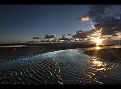 The winding river of light, a Crosby beach, sunset. Explored! (Ianmoran1970) Tags: blue sunset cloud sun reflection beach river landscape gold sand shiny boots alt flare ripples mersey crosby muddyboots explored ianmoran ianmoran1970
