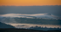 evening misty hills (Mike Ashton) Tags: sunset england mist landscape evening countryside twilight shropshire hills stiperstones thehollies