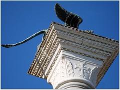 Leone di Venezia (BarPag) Tags: blue venice sky white statue italia cielo venezia azzurro leone statua colonna capitello leonealato