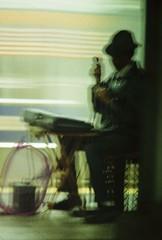 the busker croons (~RichArtpix~) Tags: newyorkcity urban subway cosmopolitan manhattan dailycommute commute singer upperwestside busker subwaystation performer crooner subwayperformer subwayplatform beautifulblur manhattansubwaystation