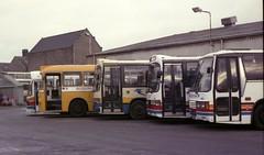 1992-12-06 - Northern Scottish Depot Aberdeen (VV773) Tags: bus scottish aberdeen leopard bluebird alexander northern smt leyland atlantean duple