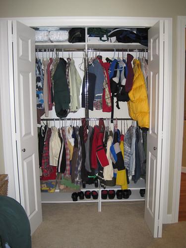The closet after