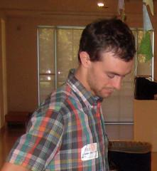 Artist Wes Bruce at CCAE Musem