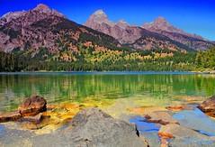 A day at the lake (P. Oglesby) Tags: autumn landscapes hdr grandtetonnp thehighlander godlovesyou coth supershot colorphotoaward taggertlake absolutelystunningscapes dragondaggerphoto coth5 mygearandmepremium mygearandmebronze mygearandmesilver