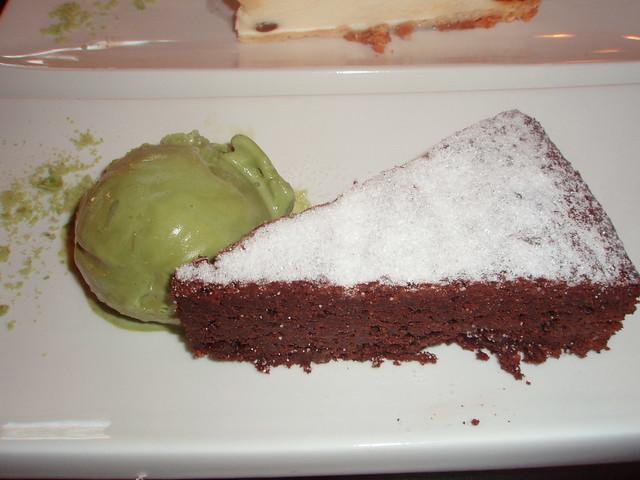Tarta de chocolate del Maguro-ya, restaurante japonés de Alicante