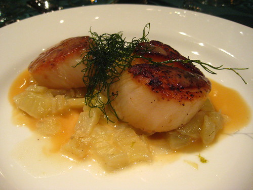 Seared Scallops with Fennel
