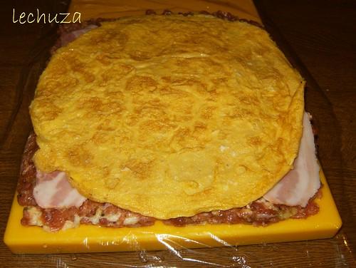 Brazo gitano de carne-poner tortilla
