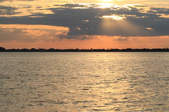 Florida sunset (yve1964) Tags: sunset sea usa beach water america river landscape evening orlando florida horizon bananacreek