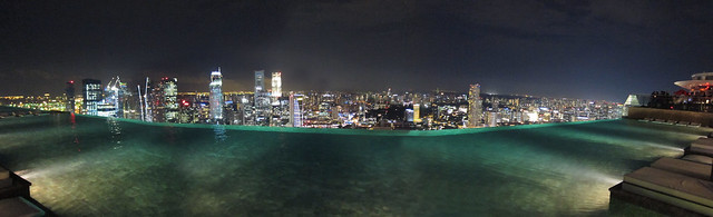 Infinity Pool Night View