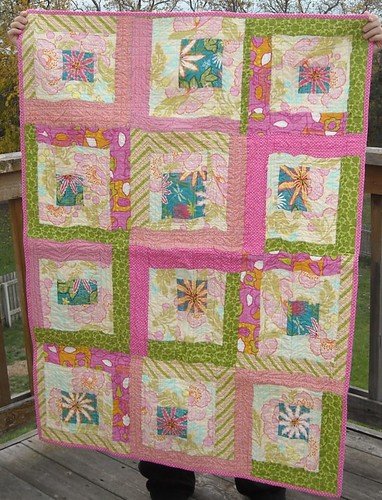pink/green charity quilt