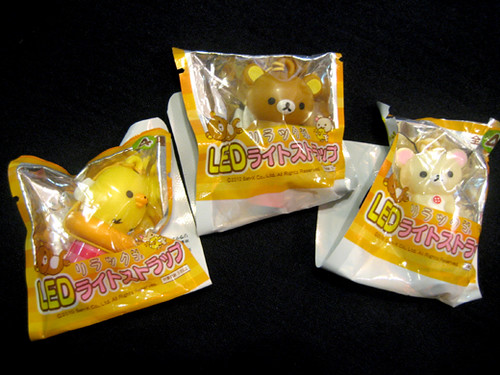 Rilakkuma LED light cell phone charms from Teas' Tea itoen