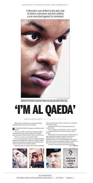 'I'M AL QAEDA' page one
