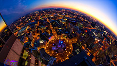 "The ""Circle"" City (Carl Van Rooy Photography) Tags: city urban skyline circle downtown indianapolis indy indiana chasetower circlecity monumentcircle soldiersandsailorsmonument jwmarriott naptown lucasoilstadium urbanindy"
