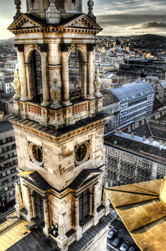 St Esteban church tower. Budapest. Torre de la basílica de San Estaban