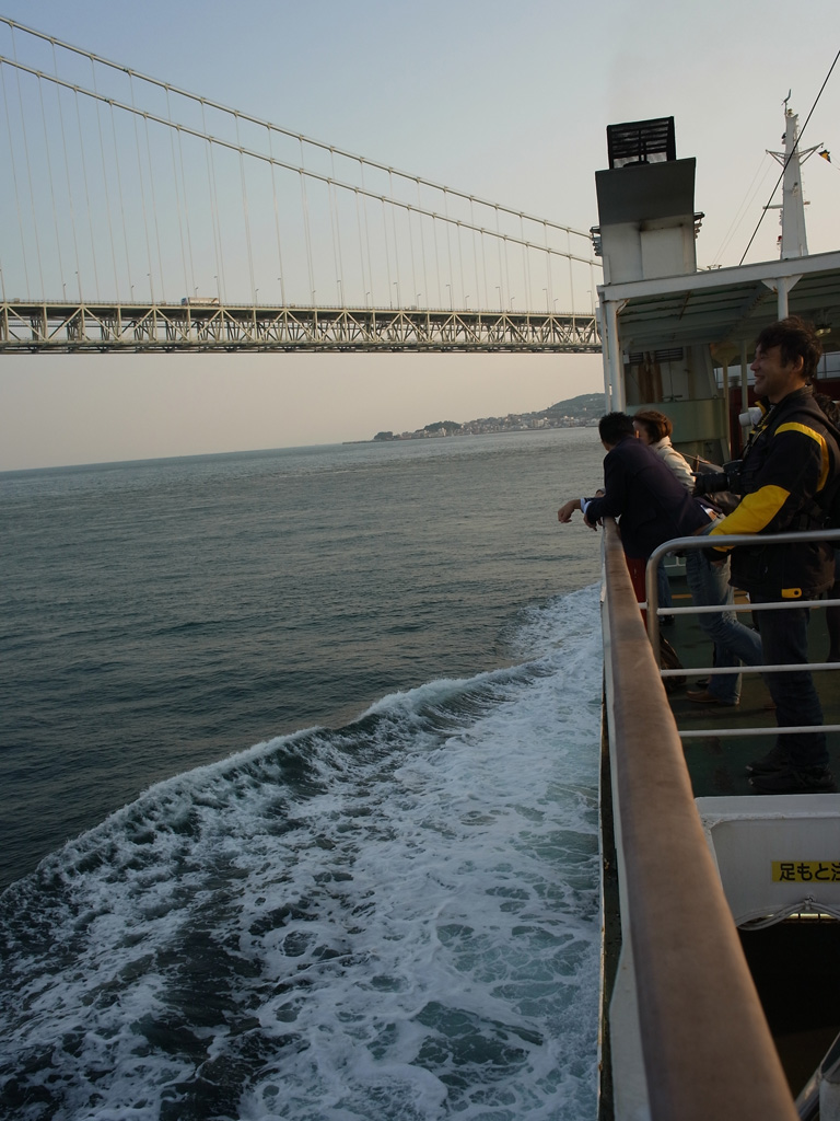 on the Tako Ferry (with Akashi Kaikyo Bridge) #2