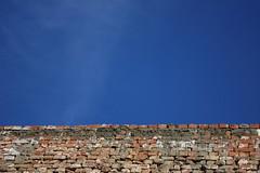 No matter how high you go, you have limits waiting. (Engineer J) Tags: blue pakistan sky white distortion brick rock wall haze cloudy cement salt perspective ground junaid m achievement limit base lahore solid linear rashid uet bahawalpur engr lat29390588600678036 lon7171523094177246