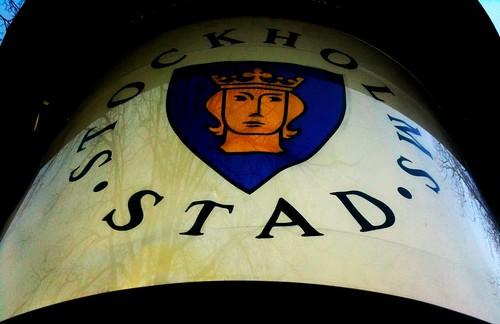 Stockholm city sign