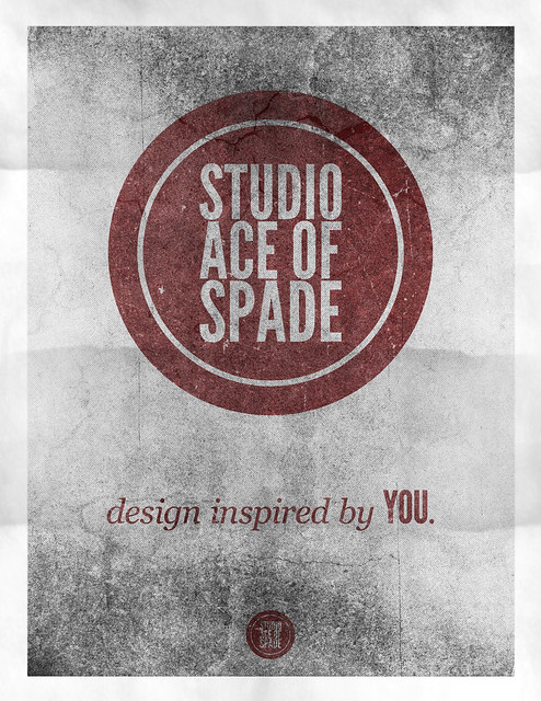 Studio Ace of Spade - Monthly poster series - November 2010 - 8.5x11""