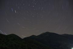 Panaitoliko mountain Star Trails (John_Bar) Tags: longexposure canon eos star is long exposure trails 18200 efs startrails peristeri 50d canoneos50d aetoloakarnania trixonida aitoloakarnania panaitoliko efs18200is paravola
