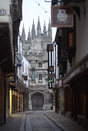 Canterbury; before the crowds.